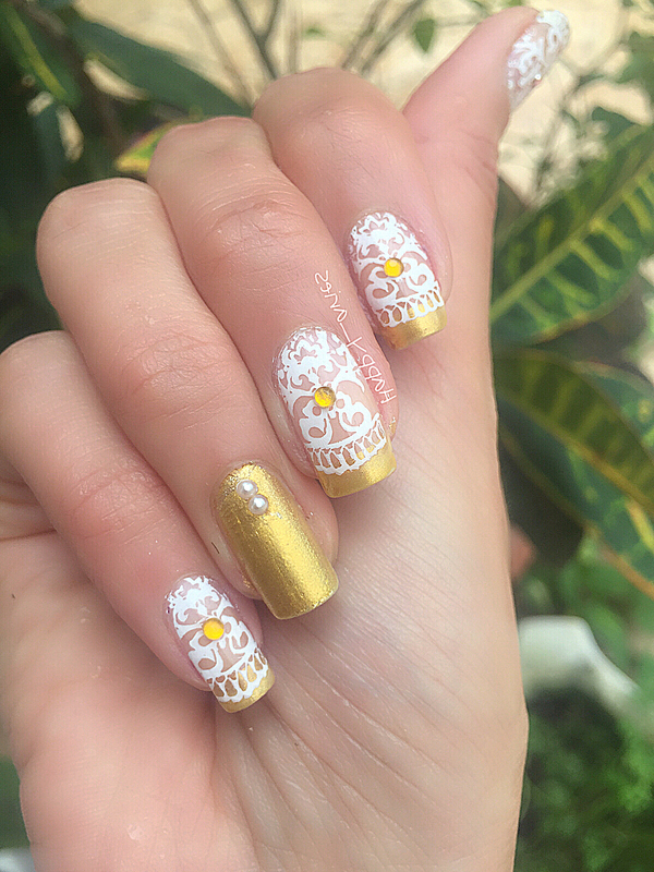 Lacey goodness  nail art by Happy_aries