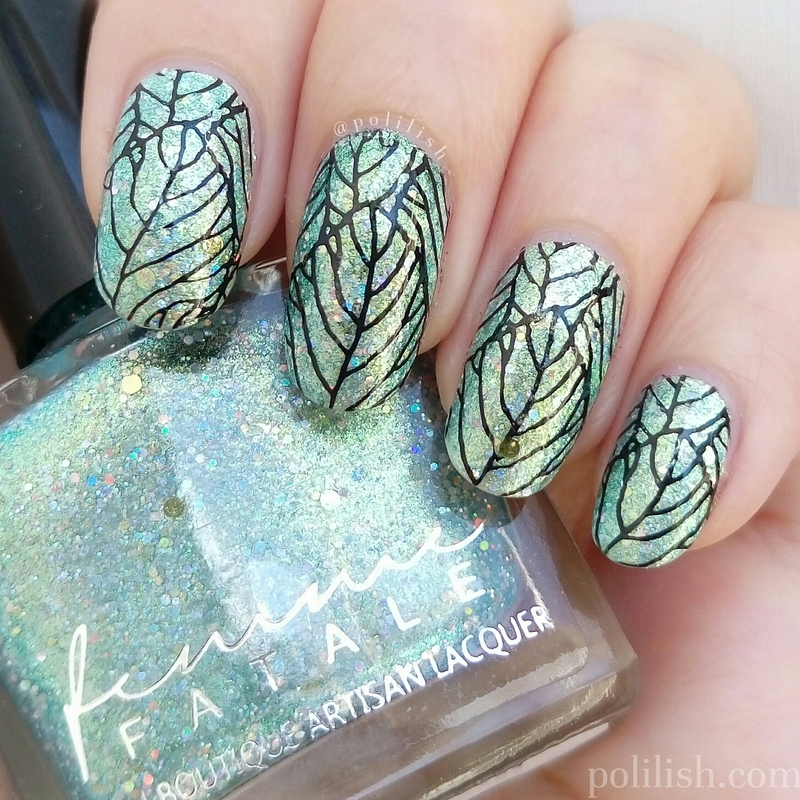 Maze of Mirrors + stamping nail art by polilish