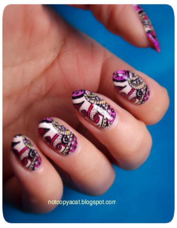 Henna ;) nail art by notcopyacat