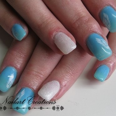Angel Wings nail art by Nailart Creations