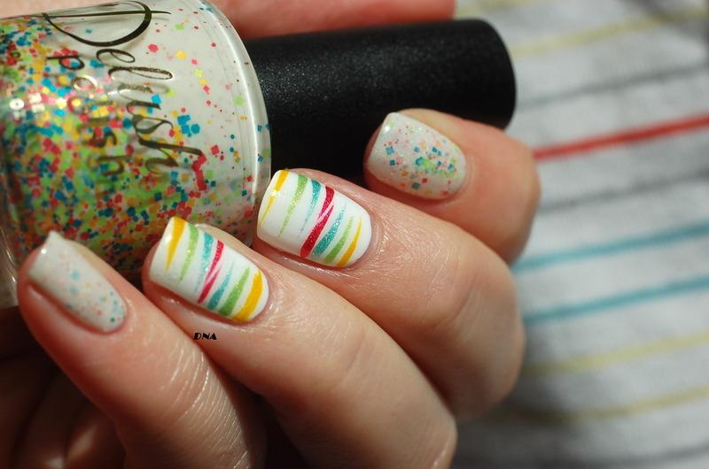 indian rainbow nail art by Dorothy NailAssay