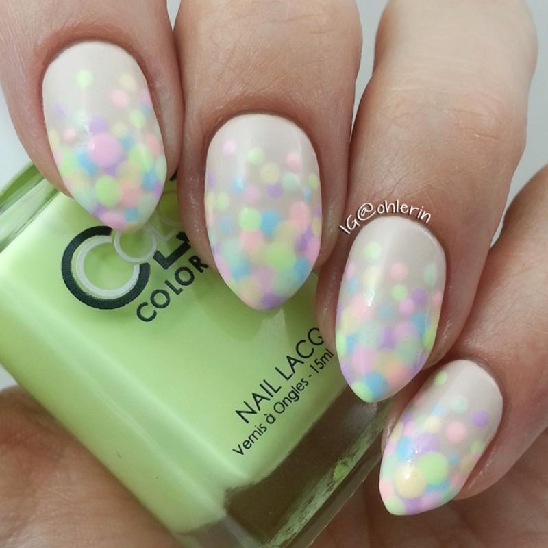 Pastel dotticure nail art by Lindsay