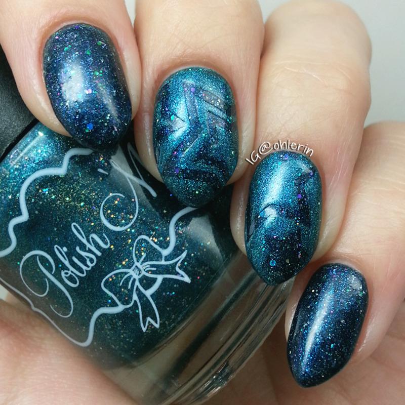Stars nail art by Lindsay