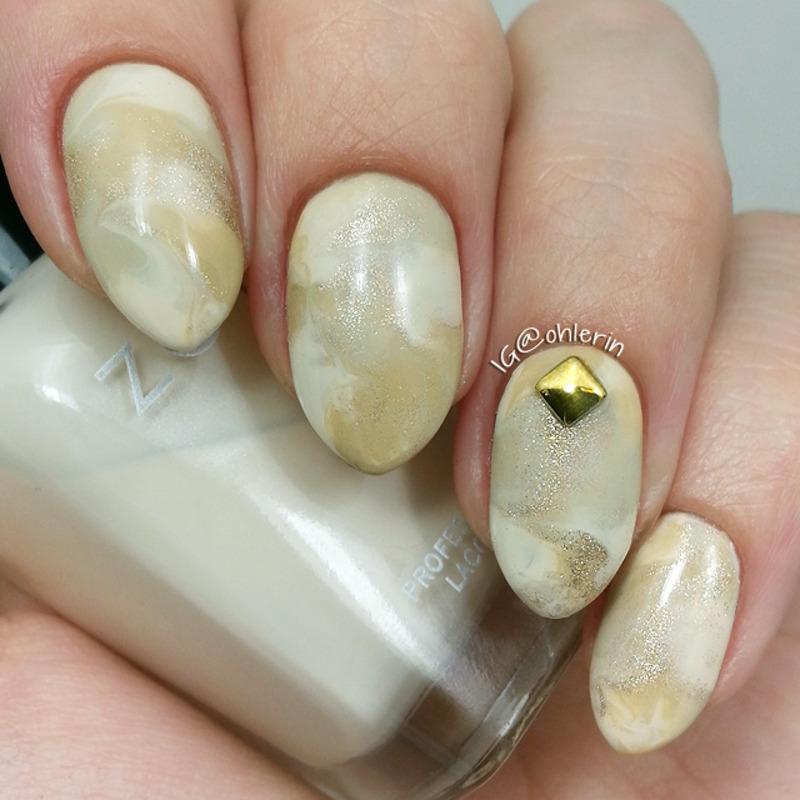 Marble nail art by Lindsay