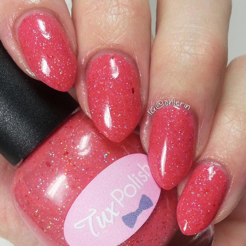 Tux Polish Strawberry Daiquiri Swatch by Lindsay