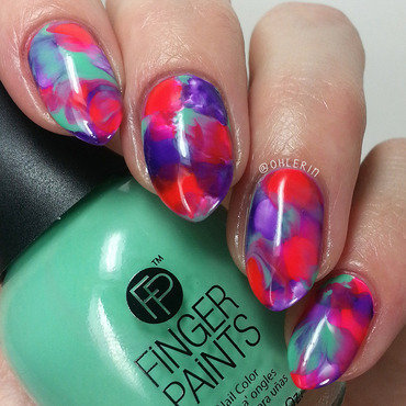 Smooshy mani nail art by Lindsay