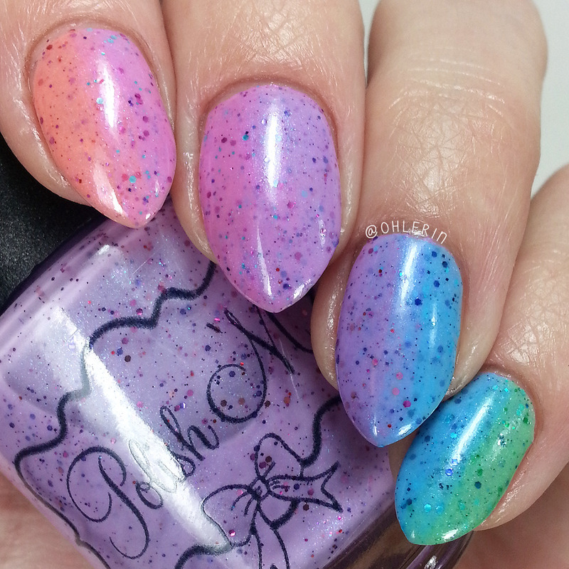 pastel crelly gradient nail art by Lindsay