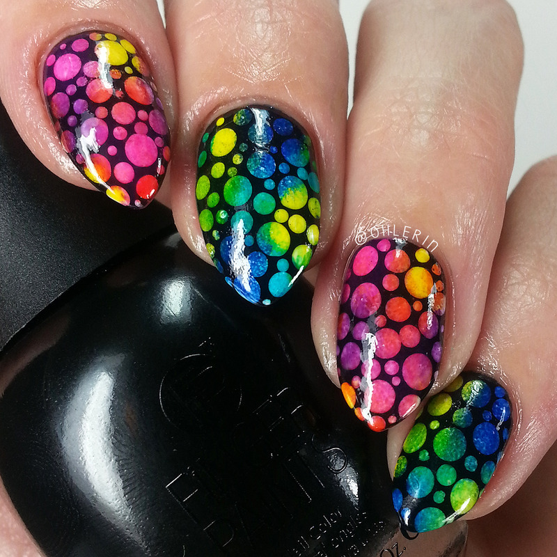 Color Paints dotticure nail art by Lindsay