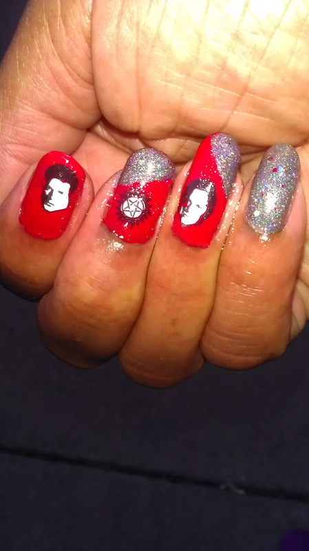 Winchester Love nail art by Jackie Bodick