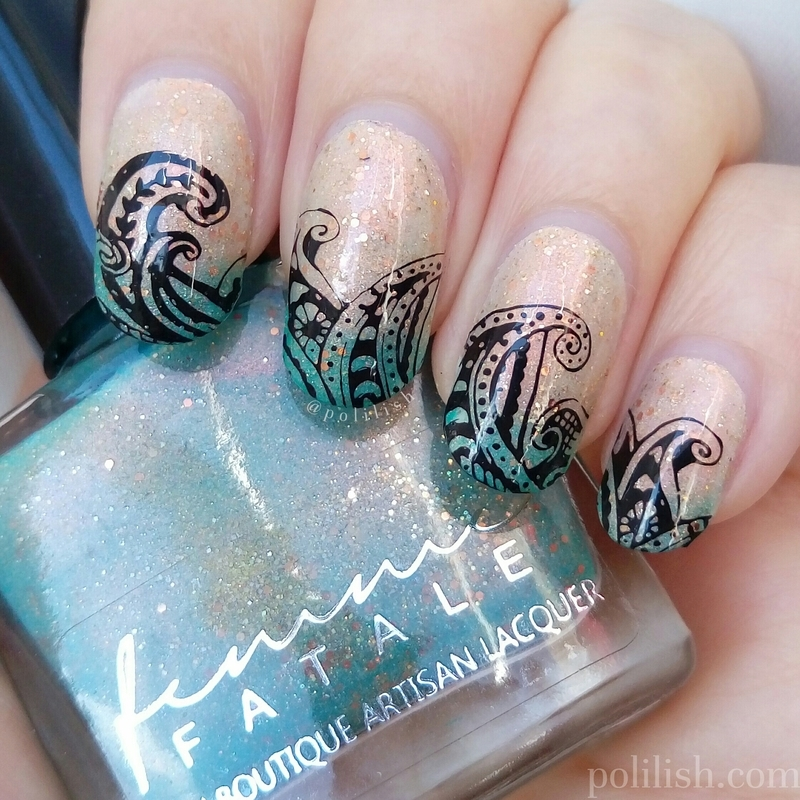A Fortune Teller's Charm + stamping nail art by polilish