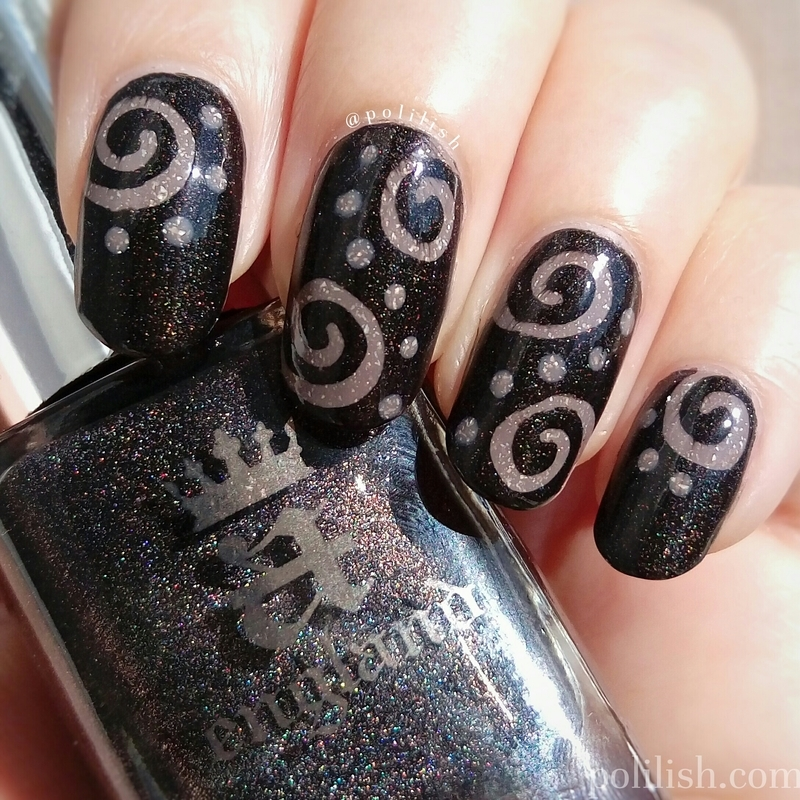 Spiral nail art nail art by polilish