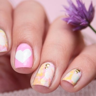 Spring nails nail art by Romana