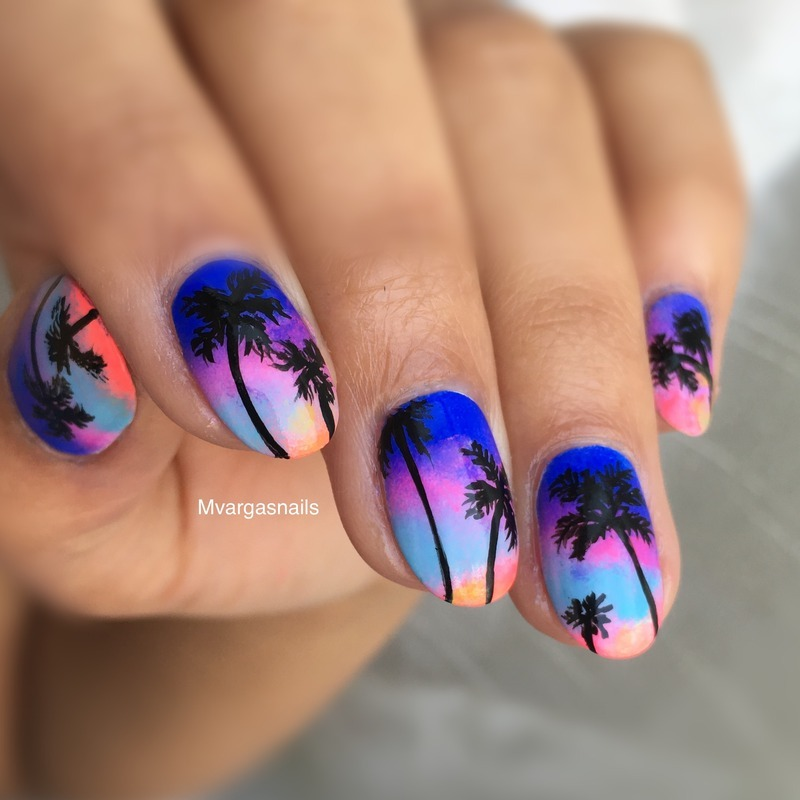 Dreaming of summer  nail art by Massiel Pena