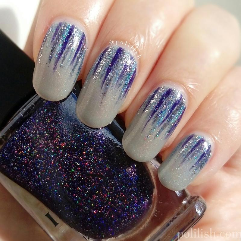 Waterfall nail art nail art by polilish