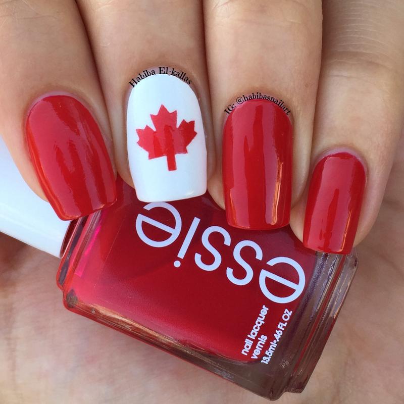 Happy Victoria Day  nail art by Habiba  El-kallas