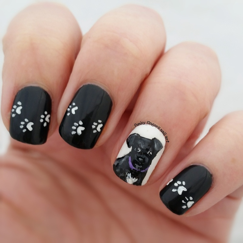 Puppy dog nails nail art by Funky fingers nail art - Puppy Dog Nails Nail Art By Funky Fingers Nail Art - Nailpolis