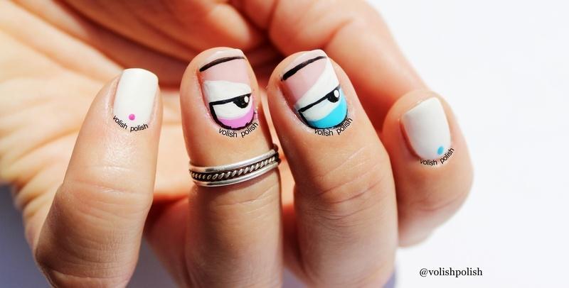 Naočarasti nail art dizajn nail art by Volish Polish