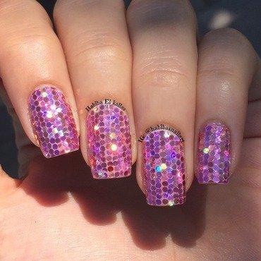 Pink! nail art by Habiba  El-kallas
