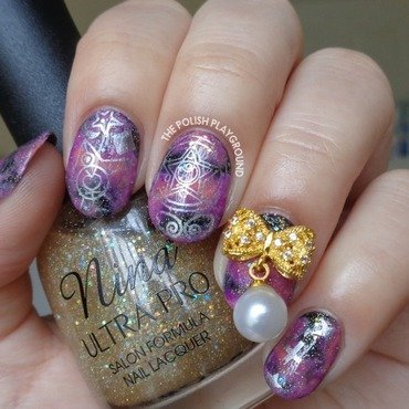 Sailor 20moon 20galaxy 20nails 20with 20gold 20bow 20stud thumb370f