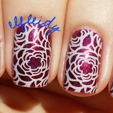 Spring flowers nail art by Jenette Maitland-Tomblin