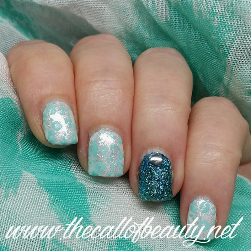 Mint Leopard nail art by The Call of Beauty