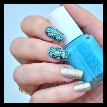 Twin stamping with konad nail art by Les ongles de B.