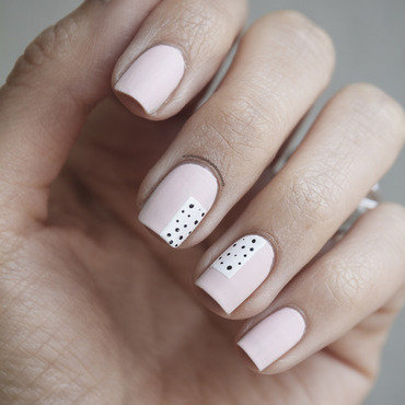 Spring Dots nail art by Jule