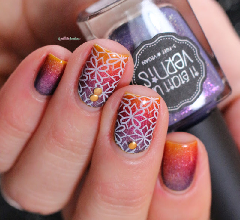 sunset nail art by nathalie lapaillettefrondeuse