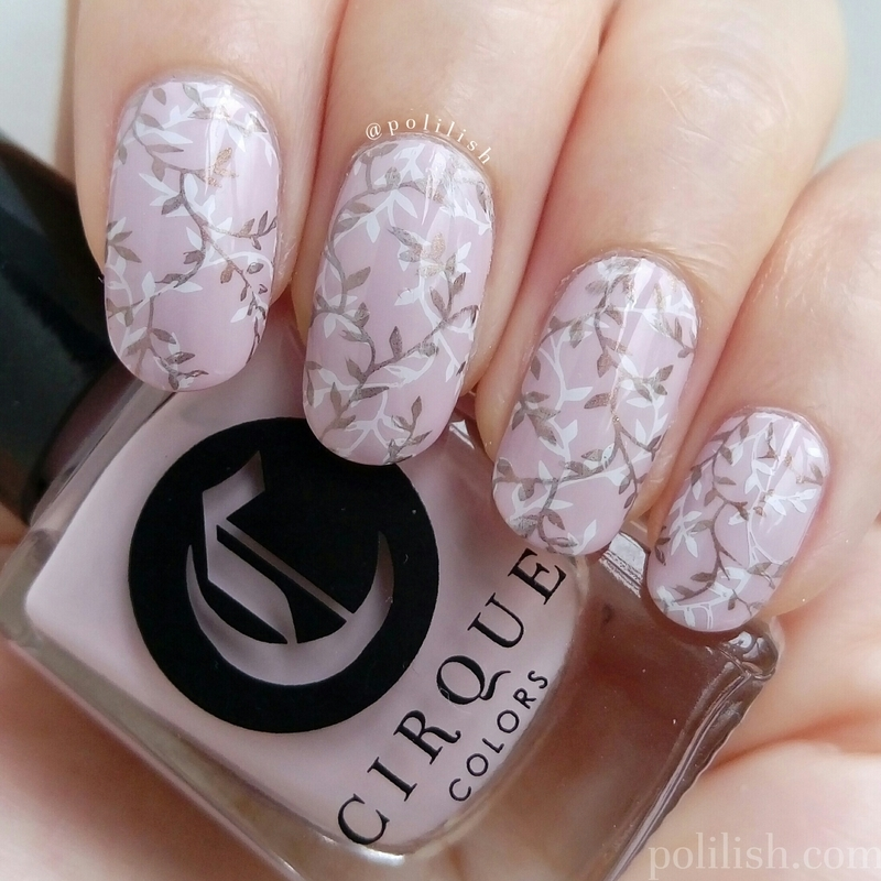 Delicate double stamping nail art by polilish