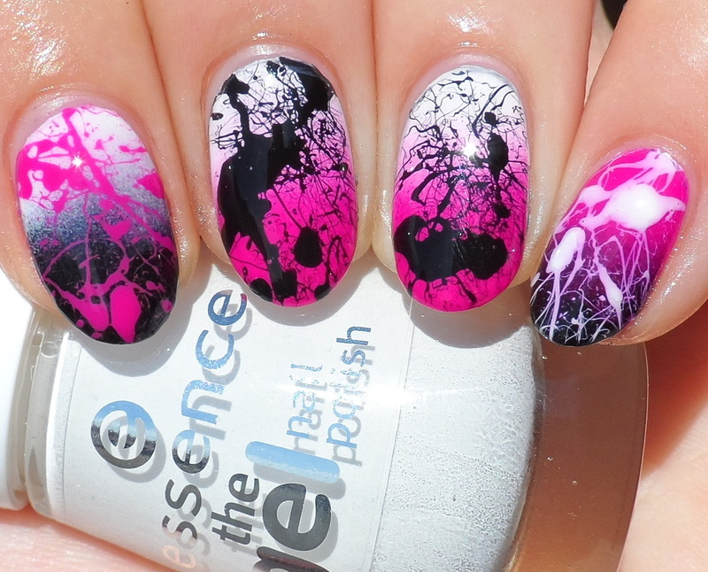 Splatter Nails nail art by Plenty of Colors