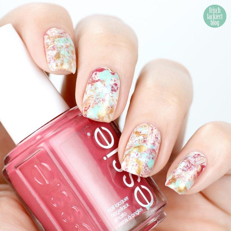 Spring Splatter Nails nail art by Steffi Frischlackiert