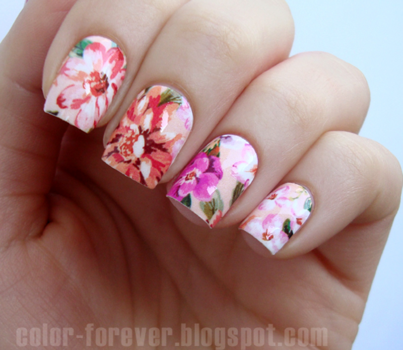 Flora nail art by ania