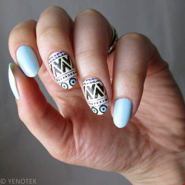 stamping decals nail art by Yenotek