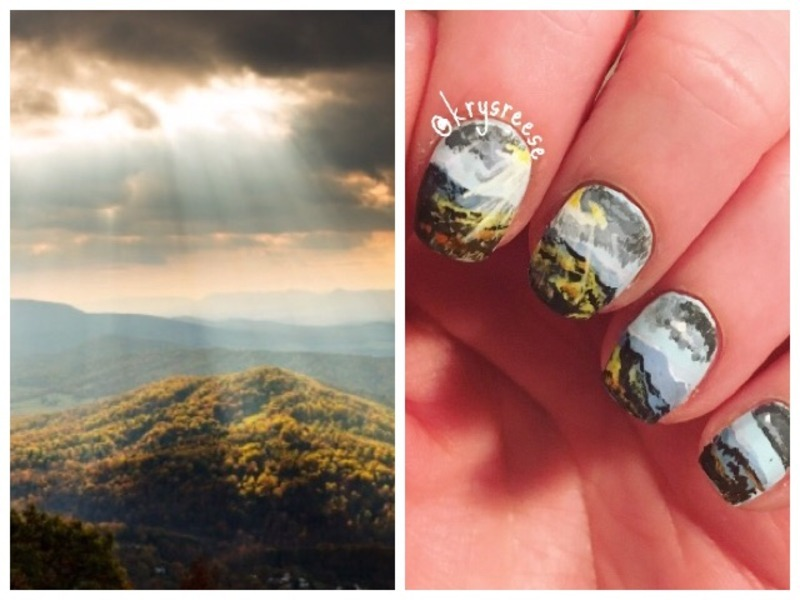 First landscape and nailed it! nail art by Krystal Reese