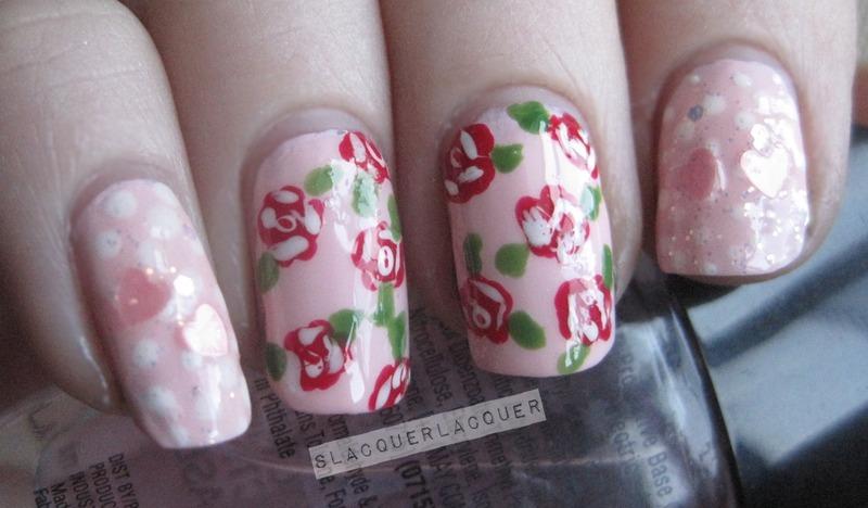 Girly Nails nail art by Tina