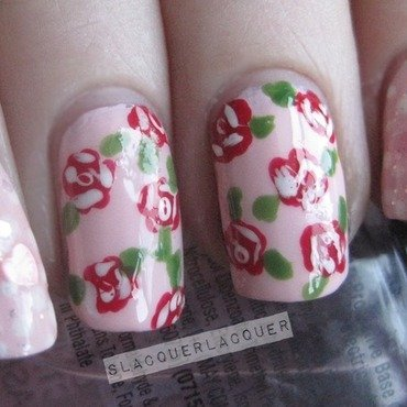 Girly Nails nail art by Tina
