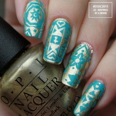 Inspired by a Book nail art by Lin van T