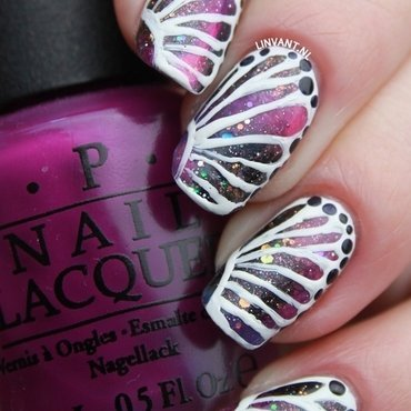 Galaxy Butterfly nail art by Lin van T