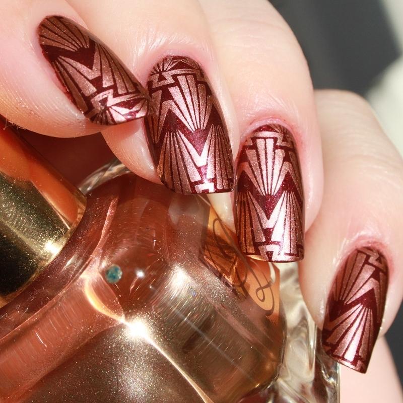 Steampunk Gold nail art by Lin van T