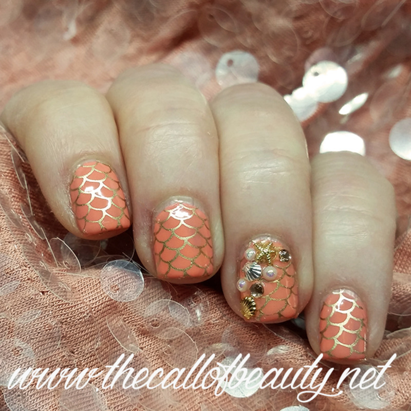 Coral Reef nail art by The Call of Beauty