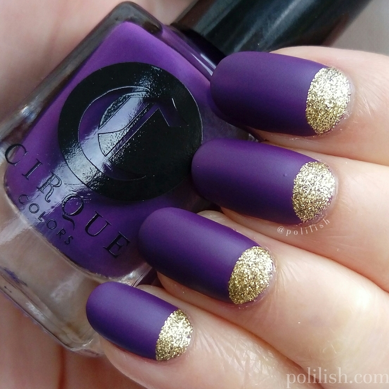 Half-moon manicure nail art by polilish