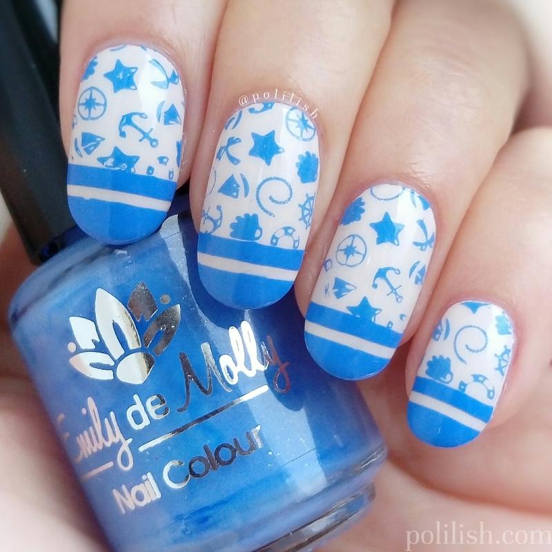 Nautical nails nail art by polilish