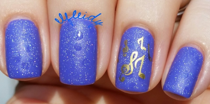 #40GreatNailArtIdeas- music nail art by Jenette Maitland-Tomblin