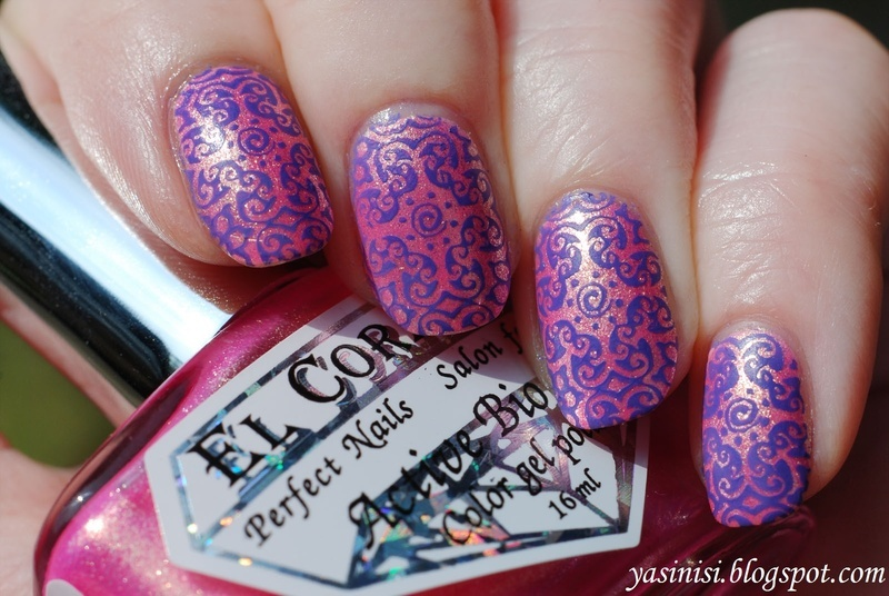 Testing acrylic plate from Cici&Sisi nail art by Yasinisi