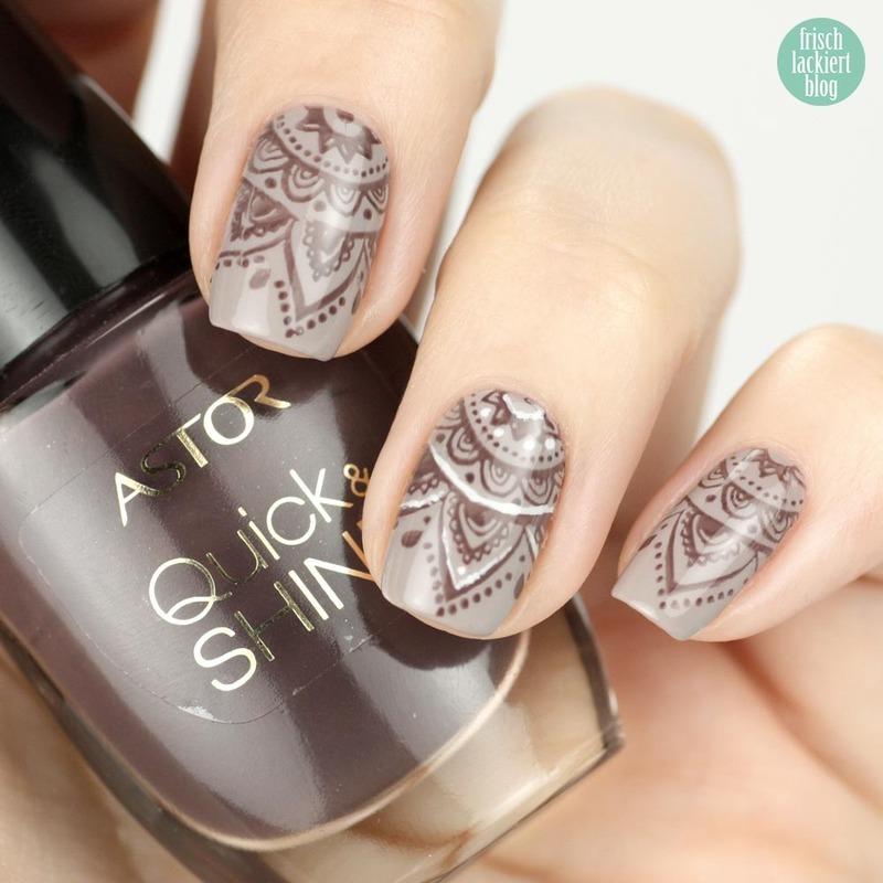 Henna Look Nailart nail art by Steffi Frischlackiert