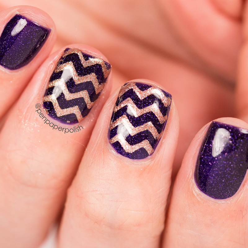 Chevrons nail art by Misty