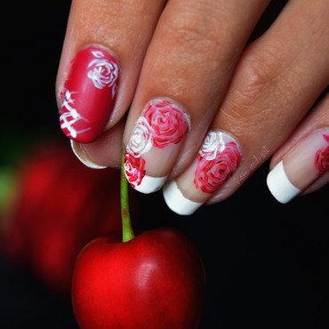 French Roses nail art by i-am-nail-art