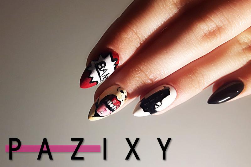 bad icon nails nail art by pazixy
