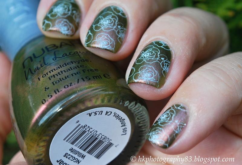 Nubar Wildlife and Roses nail art  nail art by Hana K.