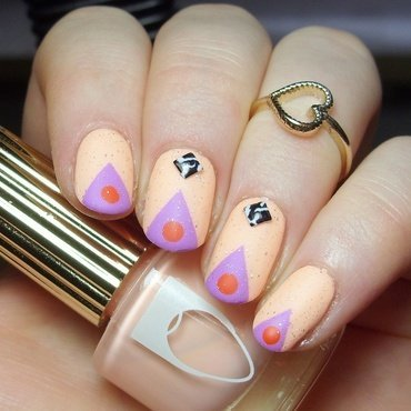 Colorful Geometry nail art by nailicious_1
